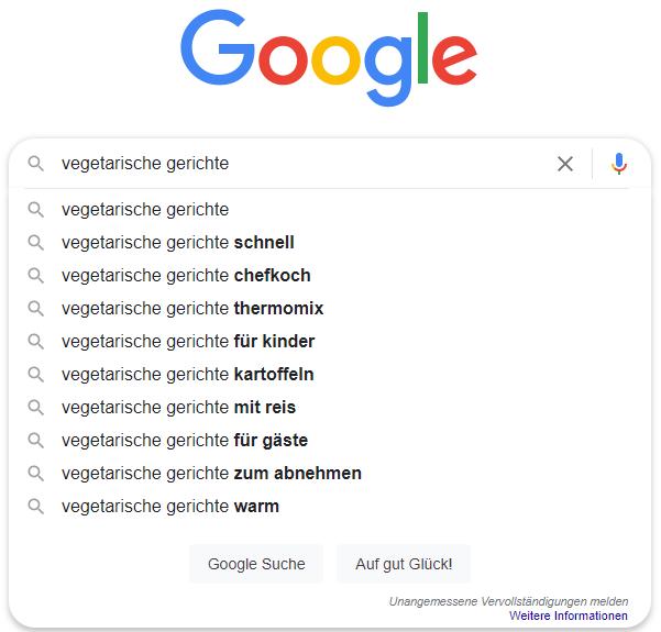 Google-Suchergebnisse-vegetarische-Gerichte
